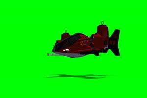 红色直升机 飞机 绿屏绿幕 抠像素材手机特效图片