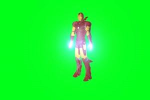 机器人 钢铁侠 视频特效 绿幕素材 抠像通道手机特效图片