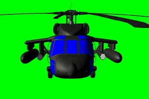 黑鹰直升机 4 飞机 绿屏绿幕 抠像素材手机特效图片