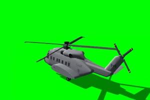 直升机 飞机 航天飞机 绿屏抠像素材 巧影AE 27 免手机特效图片