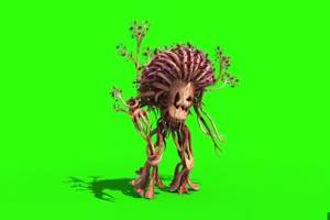 树怪 怪物绿布和绿幕视频抠像素材