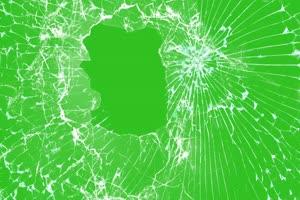 拳击玻璃 玻璃碎屏素材 绿屏抠像素材 ae巧影