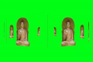 佛主 观音 菩萨 绿屏抠像素材 2手机特效图片