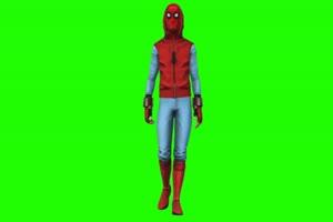 蜘蛛侠 走 2 漫威英雄 复仇绿布和绿幕视频抠像素材