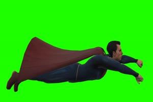 超人 飞 4 漫威英雄 复仇者绿布和绿幕视频抠像素材