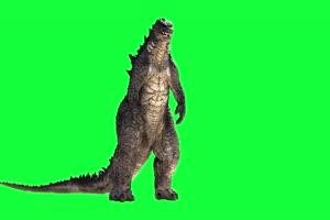 哥斯拉绿幕视频 怪兽恐龙 变异生物 11手机特效图片