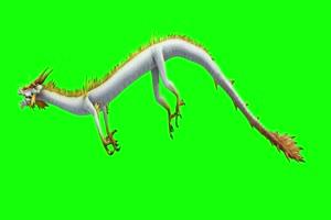 白龙侧飞 绿幕抠像 视频素材 巧影AE 剪映特效 手手机特效图片