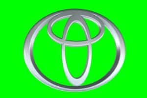 丰田 Toyota logo 车标 绿屏抠像 特效素材 (1)手机特效图片