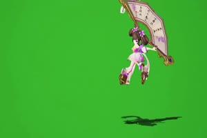 小乔丁香结 绿幕抠像素材 王者荣耀绿幕素材 抠手机特效图片