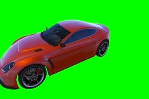 红色汽车绿布和绿幕视频抠像素材