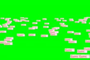 人民币 空中 大挪移001 绿屏抠像素材手机特效图片