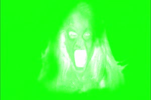 恐怖 人头面具2 绿屏绿幕 抠像素材手机特效图片