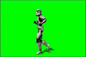 星球大战 帝国冲锋队 战士 1 绿屏绿幕特效抠像素手机特效图片