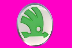 斯柯达 SKODA Logo 车标 绿屏抠像 特效素材手机特效图片