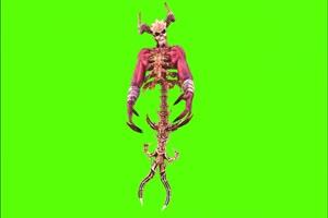 地狱恶魔绿幕视频素材 剪映AE抠像特效@特效牛手机特效图片