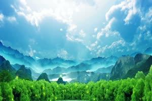 唯美山水 巧影AE 背景视频绿布和绿幕视频抠像素材