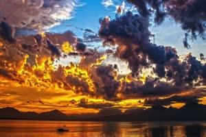免费灵魂之歌 夕阳背景视频手机特效图片