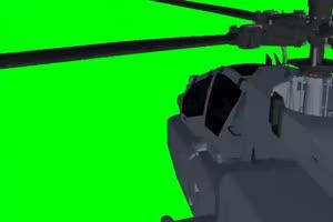 Apache 直升机 8 飞机 绿屏绿幕 抠像素材手机特效图片