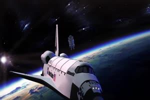 航天飞机 宇宙飞船 UFO飞船 天空科技 23  特效牛绿手机特效图片