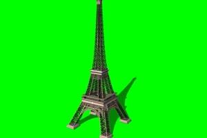免费 铁塔 埃菲尔铁塔 绿布绿屏绿幕视频素材免手机特效图片