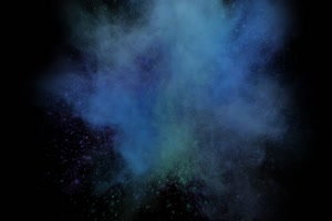 粉尘颜料燃料五彩粉末粒子 头顶 4 黑幕抠像视频手机特效图片