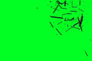 免费 碎渣 木块 石头碎裂 绿幕视频 绿幕素材免费手机特效图片