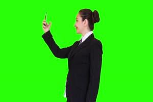 商务人士 美女 职场03 绿屏抠像 特效素材 巧影