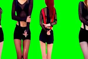 日韩美女跳舞 热舞绿布和绿幕视频抠像素材