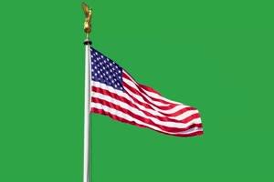 美国 国旗绿幕后期抠像视频特效素材@特效牛免费手机特效图片