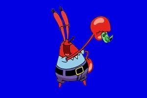 002 蟹老板 舞蹈 海绵宝宝 蓝幕视频素材手机特效图片