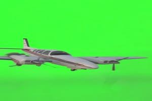 接住飞机 绿屏素材
