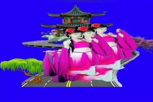美女 139 仙女 跳舞 巧影抠像 AE抠像 绿幕素材手机特效图片