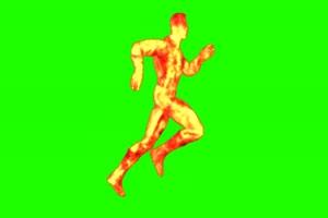 火焰人 跑 4 漫威英雄 复仇绿布和绿幕视频抠像素材