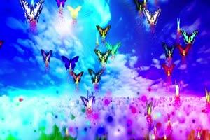 梦幻蝴蝶 高清背景素材MP4 在线下载手机特效图片