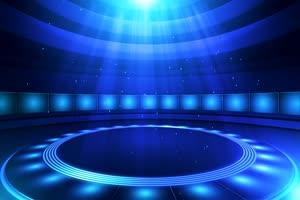 8旋转圆形灯光秀舞台舞台