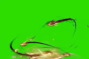 盘旋龙头拖尾绿幕 绿幕龙 绿幕素材手机特效图片