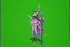 王者荣耀 王昭君跳舞 绿幕视频 绿幕素材 高清版手机特效图片