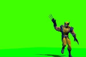 金刚狼 复仇者联盟 绿幕素材 绿屏抠像 特效素材手机特效图片