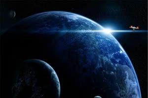太空飞船 宇宙飞船 1 巧影手机特效绿屏抠像素材手机特效图片