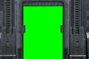 门 铁门 免费绿幕视频 绿