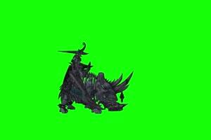 不死兽侧面 绿幕抠像 绿布视频 特效抠像 剪映巧手机特效图片