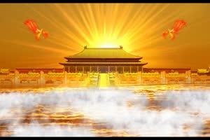 南天门 天宫 仙境 神仙之地 金銮殿凤凰仙鹤飞过手机特效图片