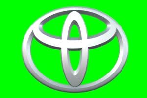 丰田 TOYOTA logo 车标 绿屏抠像 特效素材手机特效图片