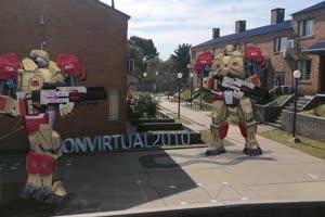 机器人 机器人打枪 机器人 视频特效 绿幕素材手机特效图片