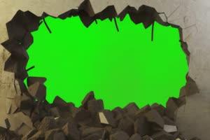 免费 墙 墙爆开 绿幕视频 绿幕素材免费下载手机特效图片