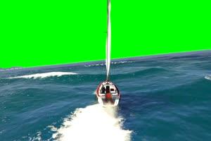 扬帆远航 小舟 自然绿屏抠像素材手机特效图片