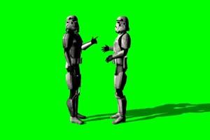 星球大战 帝国冲锋队 战士 82 绿屏绿幕特效抠像手机特效图片