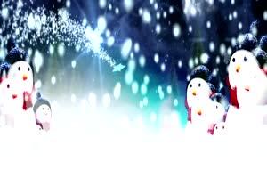 圣诞节 雪花 圣诞老人 背