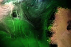 高维度宇宙抽象背景视频19 Green Planet手机特效图片