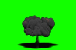 火焰 烟雾爆炸 1 绿屏抠像特效素材绿幕AE教程